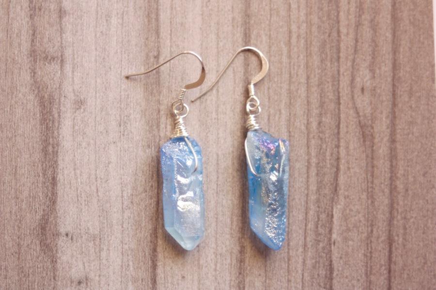 Blue Titanium Earrings2